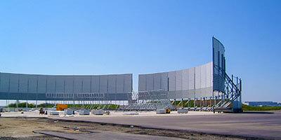 Ściana akustyczna do testów Airbusa A380