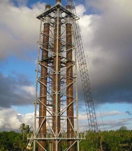 Konstrukcja kratownicowa wsporcza kominów